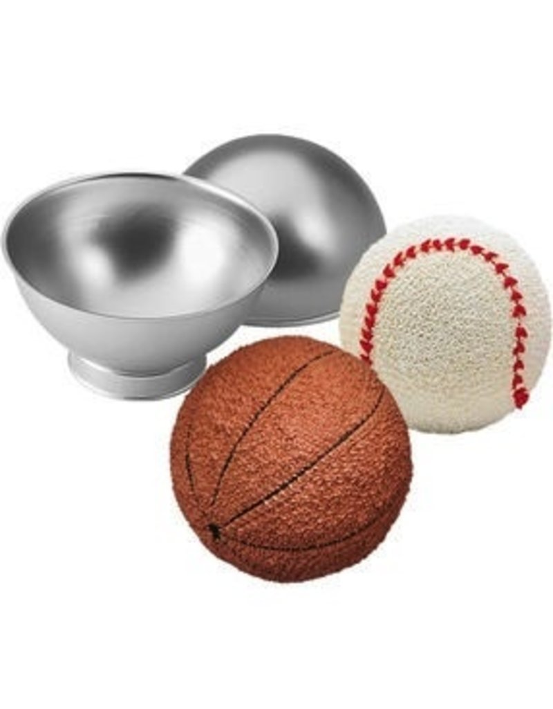 WILTON ENTERPRISES SPORTS BALL PAN 4 PC