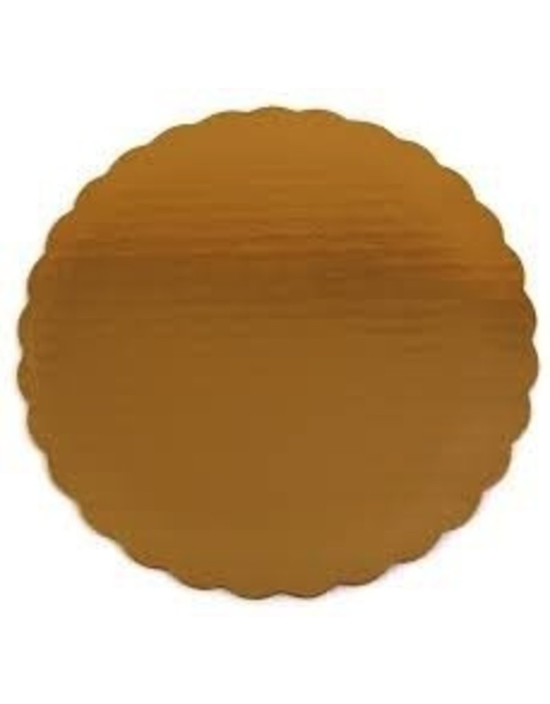 DAWN 10'' GOLD SCALLOPED CIRCLE EA