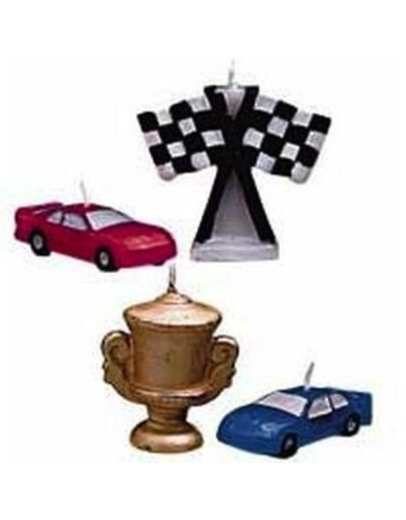 WILTON ENTERPRISES RACE CAR CANDLES EA 4 CT
