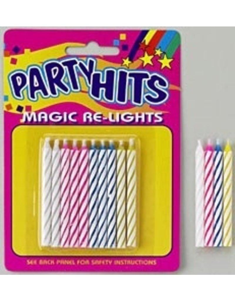 PFEIL & HOLING MAGIC RELIGHT CANDLE MULTI  2 1/2'' BOX 12 PACKS
