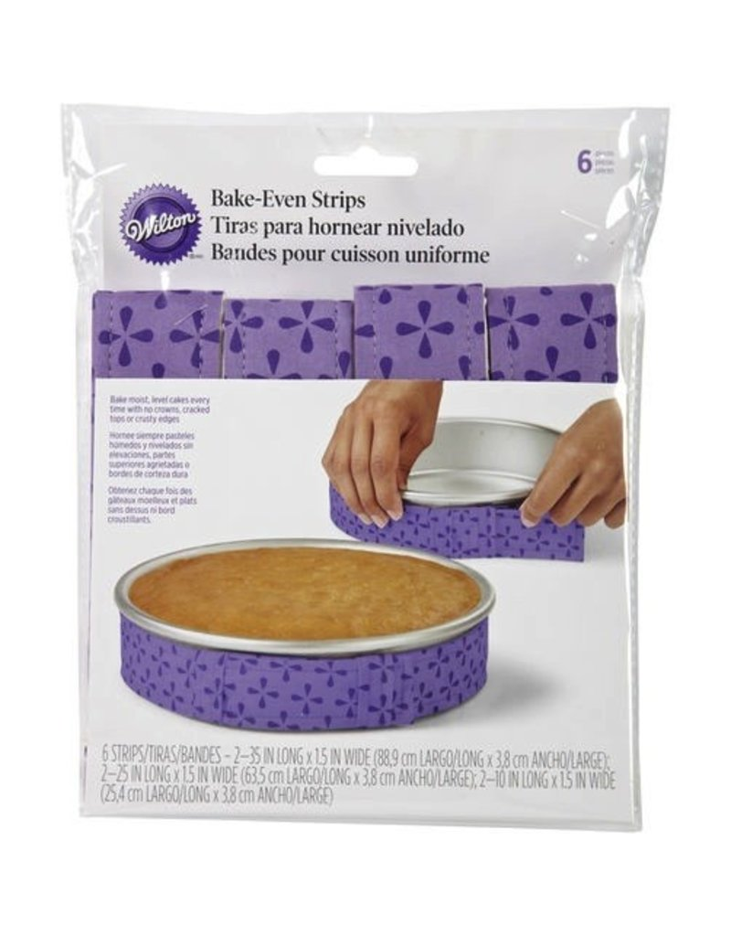WILTON ENTERPRISES 6 PC BAKE-EVEN STRIP SET