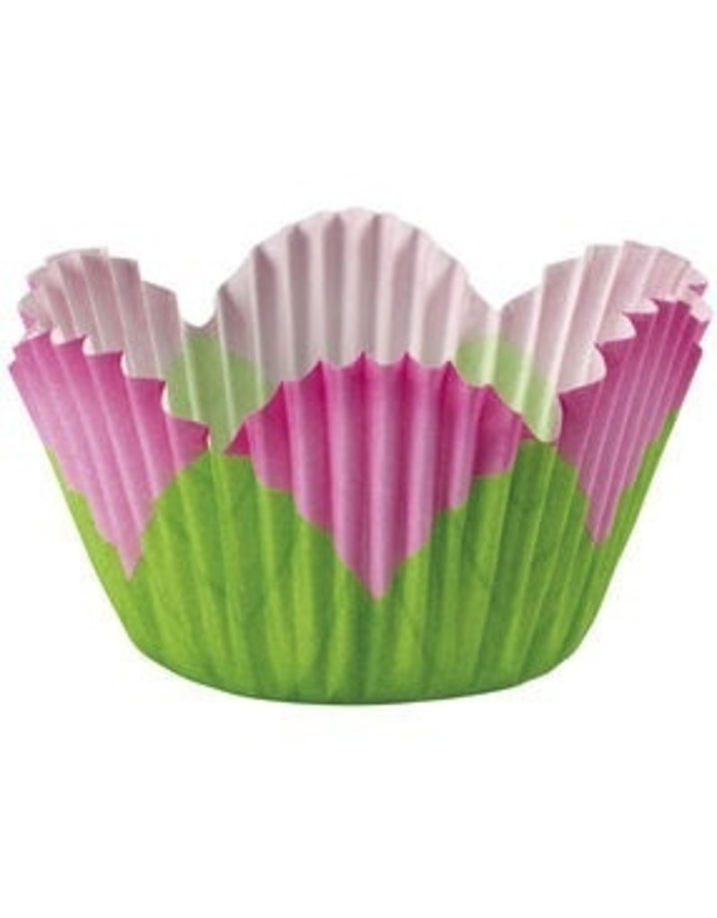 WILTON ENTERPRISES PINK PETAL STD BAKING CUP 24 CT