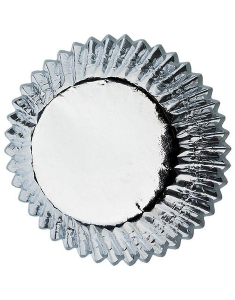 "WILTON ENTERPRISES 1.25"" SILVER FOIL MINI BAKING CUP 36 CT"