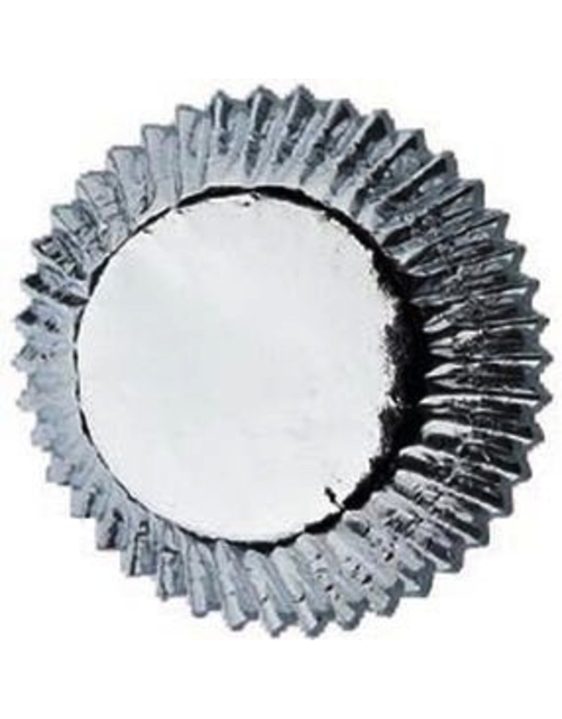 WILTON ENTERPRISES 2'' SILVER FOIL STD BAKING CUP 24 CT