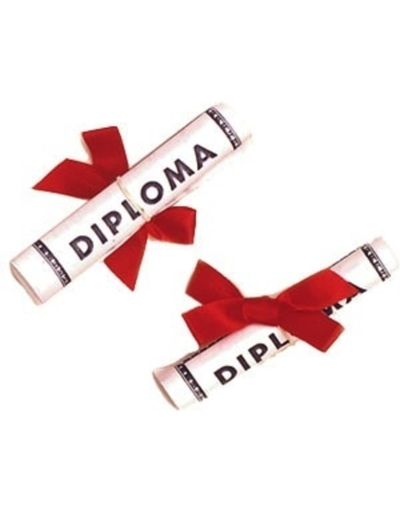 "PFEIL & HOLING LG PAPER DIPLOMA W/RED RIBBON 3 3/4"" BOX 12 CT"