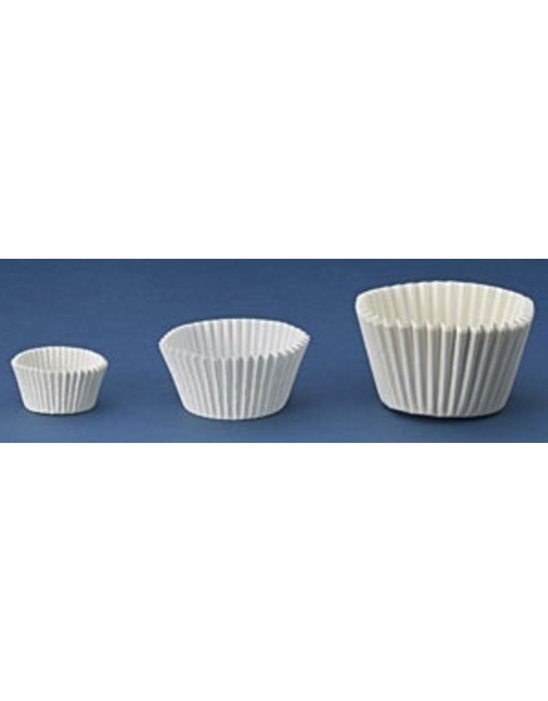 PFEIL & HOLING 3'' MINI WHITE BAKING CUP SLV 500 CT  P&H