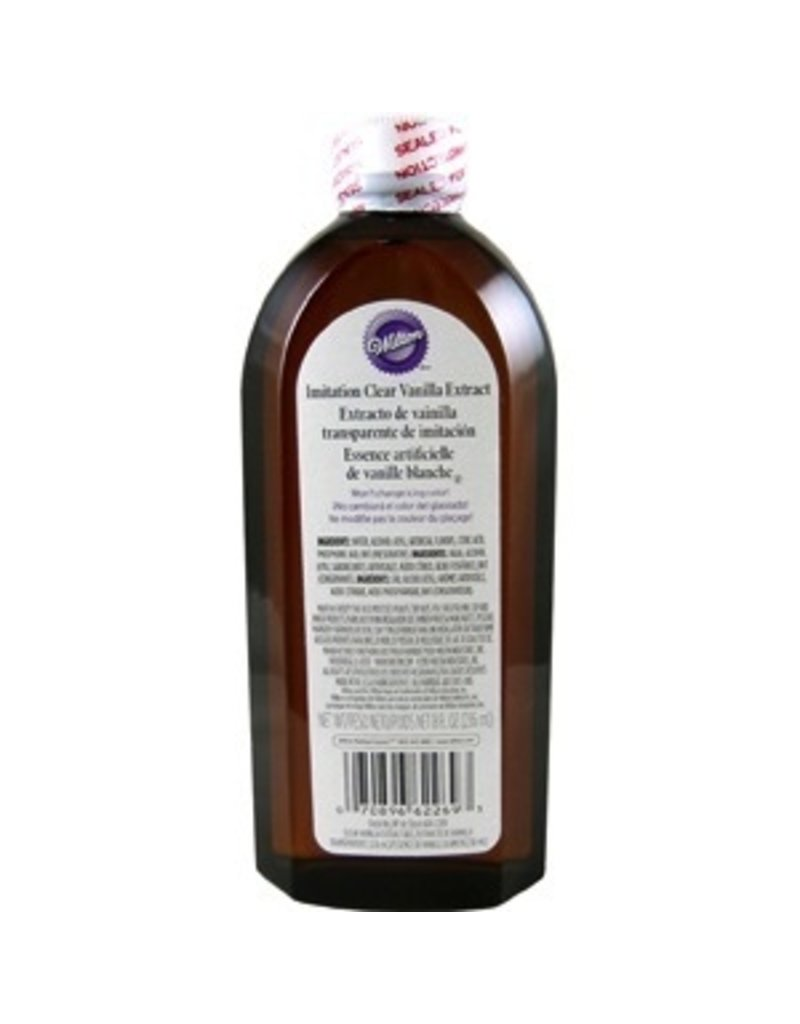 WILTON ENTERPRISES IMITATION CLEAR VANILLA EXTRACT 8 OZ