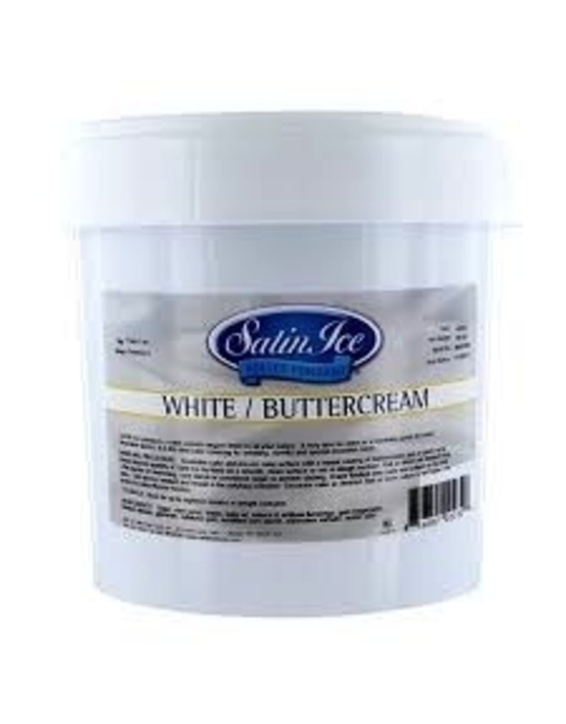 SATIN FINE FOODS WHITE BUTTERCREAM SATIN ICE FONDANT  2 LB