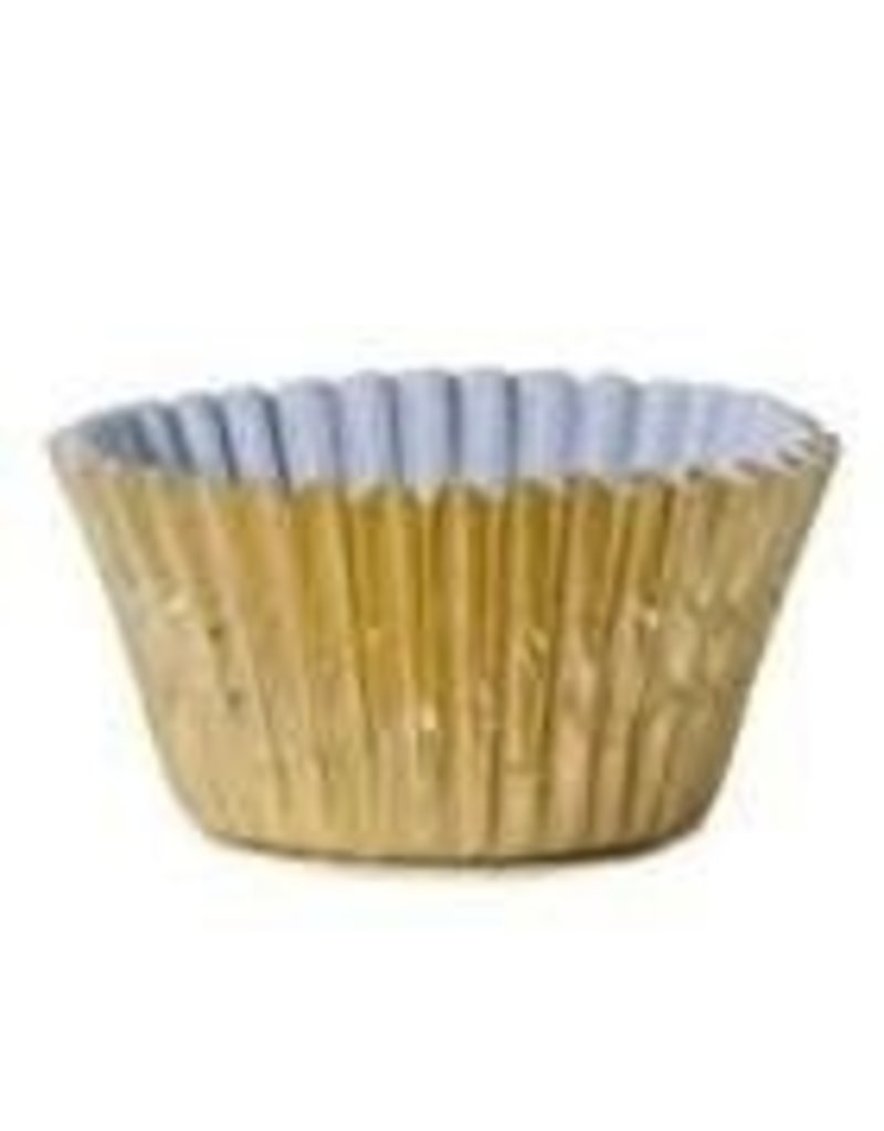 ATECO 1'' GOLD PAPER LINED FOIL BAKING CUP 200 CT