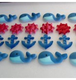LUCKS FOOD DECORATING NAUTICAL ASSORTMENT SUGAR 1 1/4''-2'' BOX 84 CT LUCKS