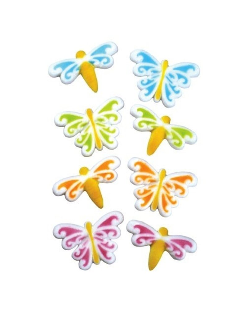 LUCKS FOOD DECORATING BUTTERFLY & DRAGONFLY SUGAR ASST 1 3/4''  BOX 80 CT  LUCKS