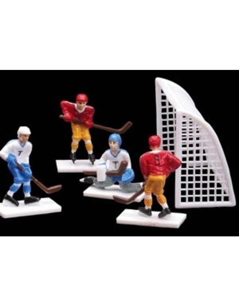 PFEIL & HOLING HOCKEY PLAYERS & GOALS  SETS 8 PC  EA