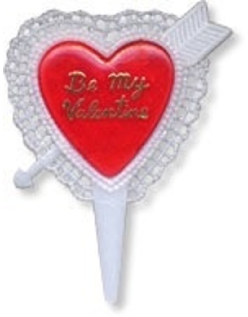 PFEIL & HOLING ''BE MY VALENTINE''  HEART PICK  2 3/4'' BOX 144 CT
