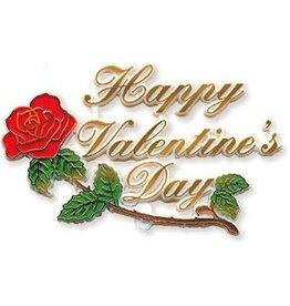 PFEIL & HOLING HAPPY VALENTINE'S DAY ROSE PLAQUE  4'' BOX  24 CT