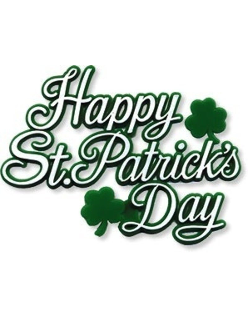 PFEIL & HOLING HAPPY ST PATRICKS DAY PLAQUE 3'' BOX 48 CT