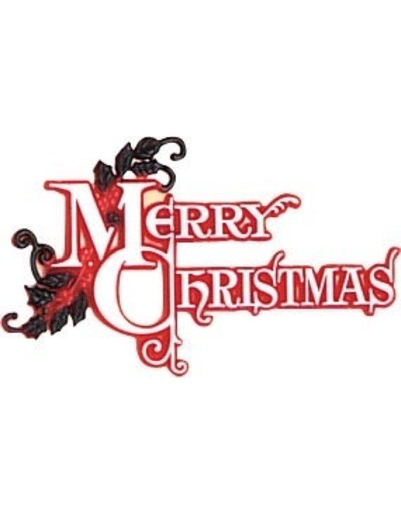 PFEIL & HOLING MERRY CHRISTMAS PLAQUE PKG 36 CT