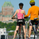 Scenic bike tour accross the river in Québec city,95$