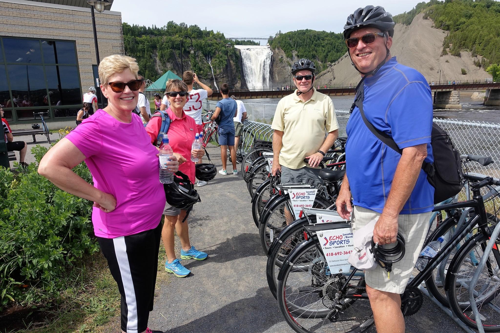 Majestic Montmorency falls  bike tour, 90$