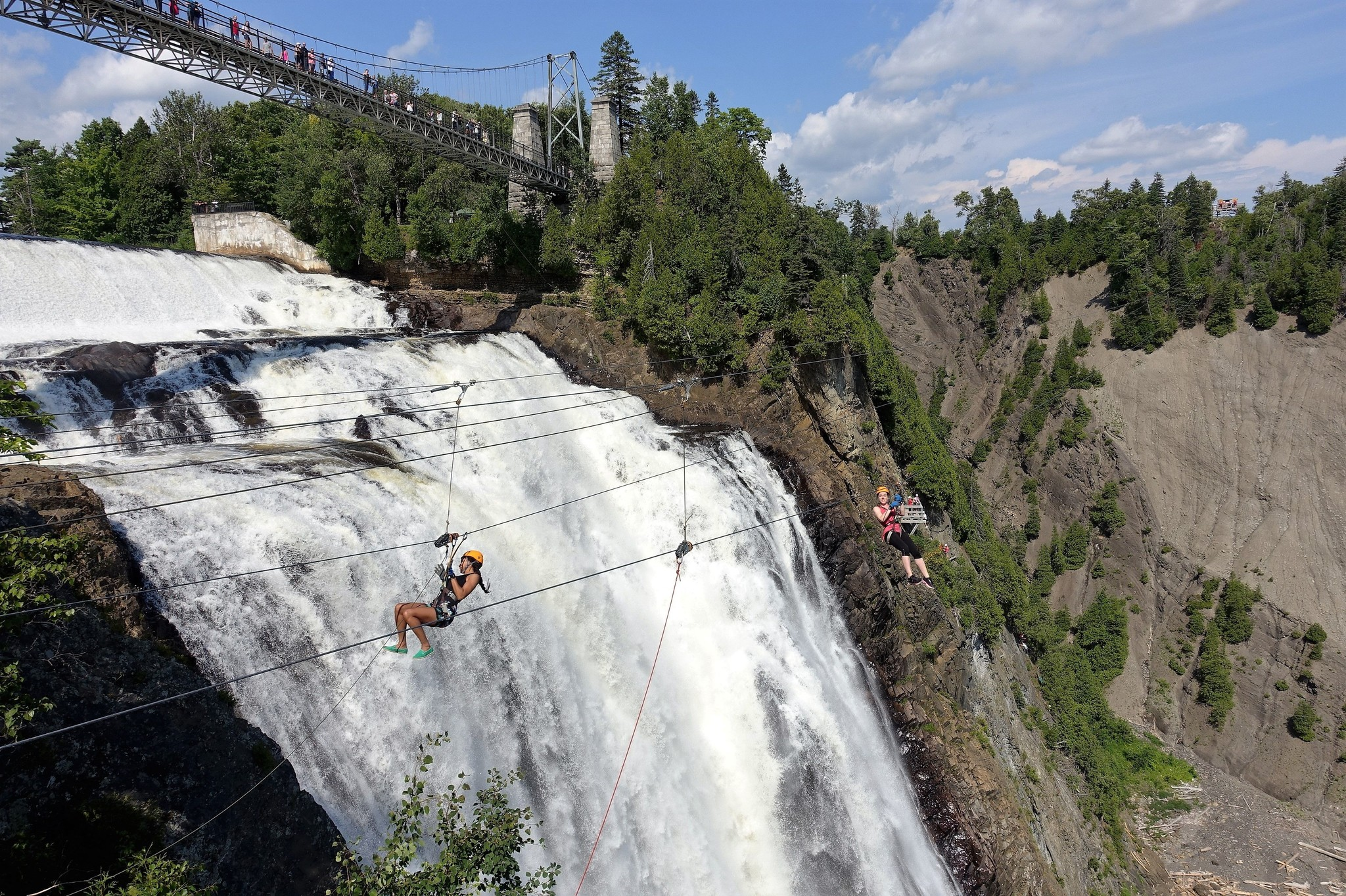 Majestic Montmorency falls bike tour
