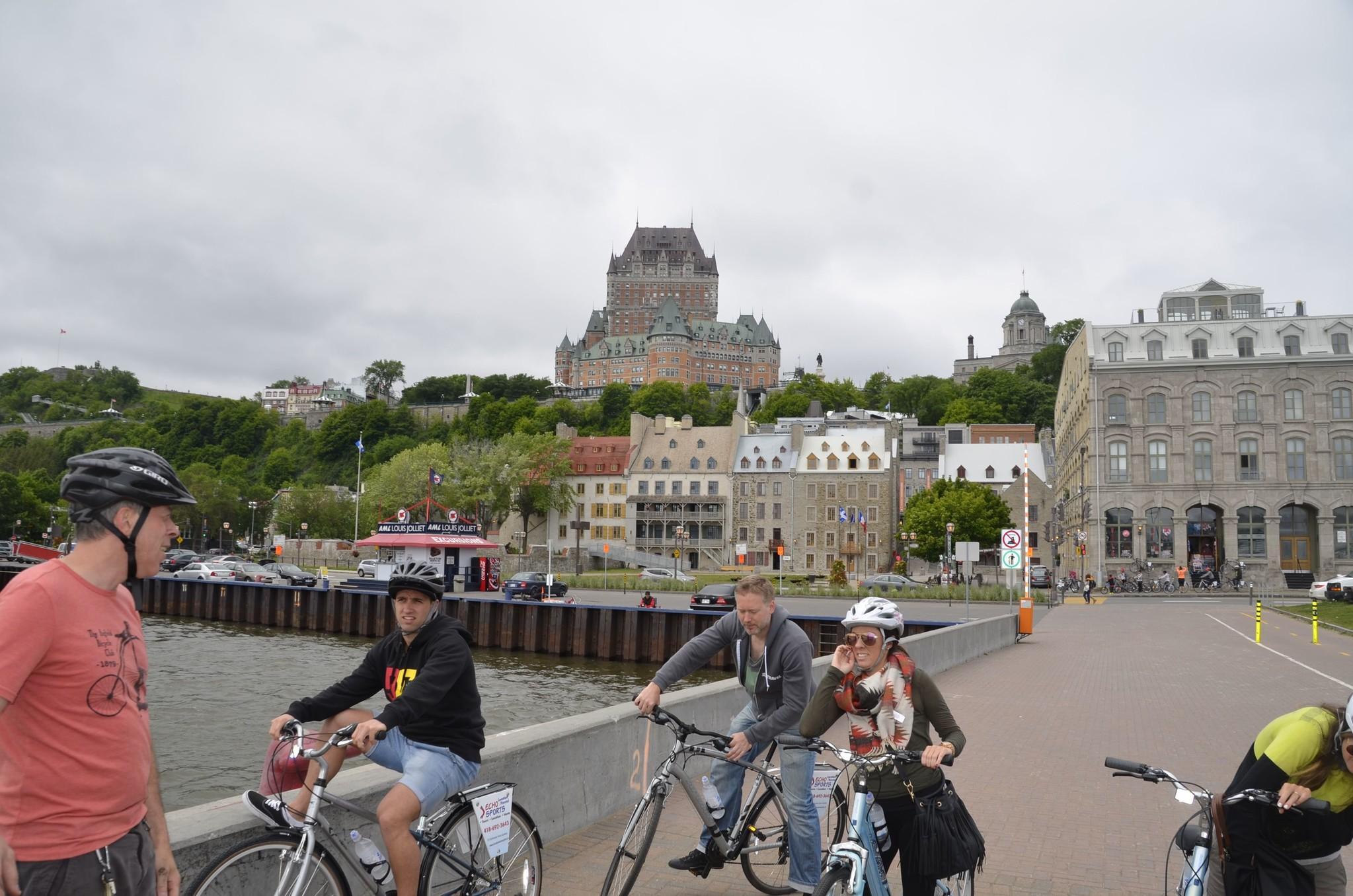 Quebec city along the river bike tour, 65$