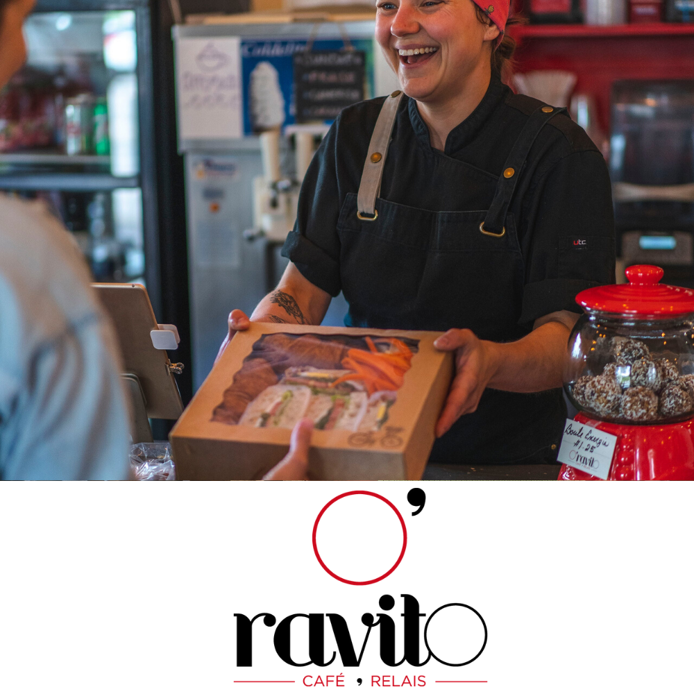 Free coffee or homemade limonade when buying a lunch at O'RAVITO