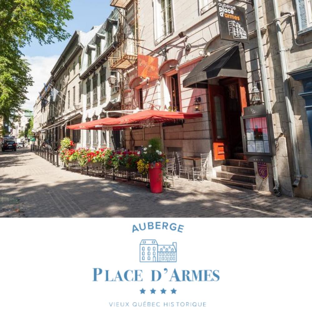 AUBERGE PLACE D'ARMES  10% de rabais sur locations de vélos ou tours guidés