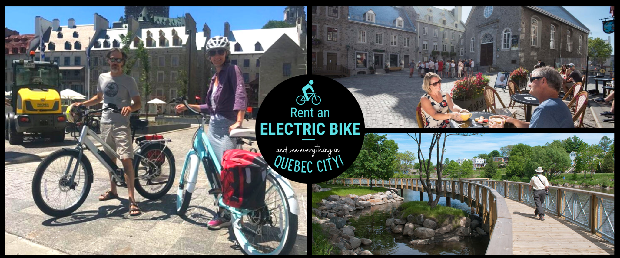 Electric bike rental by the hour or by the day