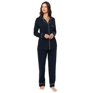 Cat's PJs Cat's Pajamas 360-85 Solid Knit PJ Set w/piping