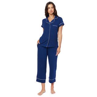 Cat's PJs Cat's Pajamas 225 Solid Knit Capri PJ Set w/piping