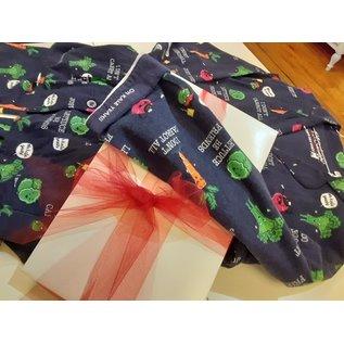 PJS RKVEPJ Flannel Vegetable PJ Set