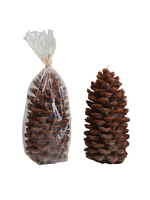 Unscented Pinecone Shaped Candle