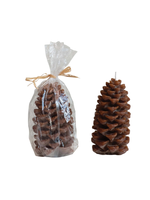 Unscented Pinecone Shaped Candle, Small