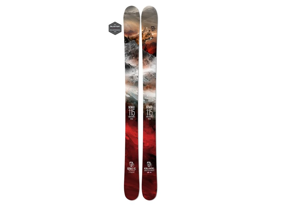 Half Drilled Icelantic Nomad 115 Skis 19/20 181cm Clearance