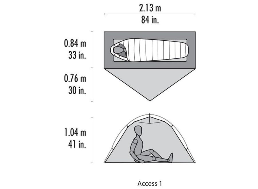 MSR Access 1 Ultralight, Four Season Tent