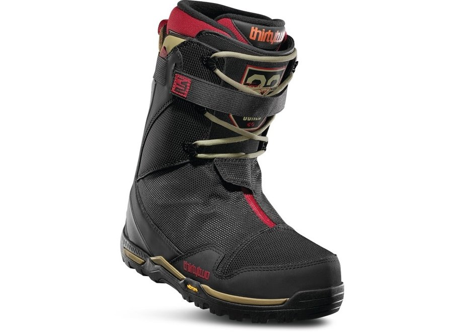 ThirtyTwo TM-2 XLT Jones Snowboard Boot 19/20 Black/Tan/Red 9.5 Clearance
