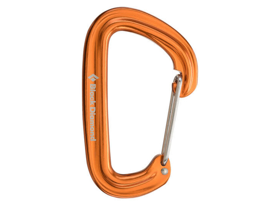 Black Diamond Neutrino Wiregate Carabiner Orange Clearance