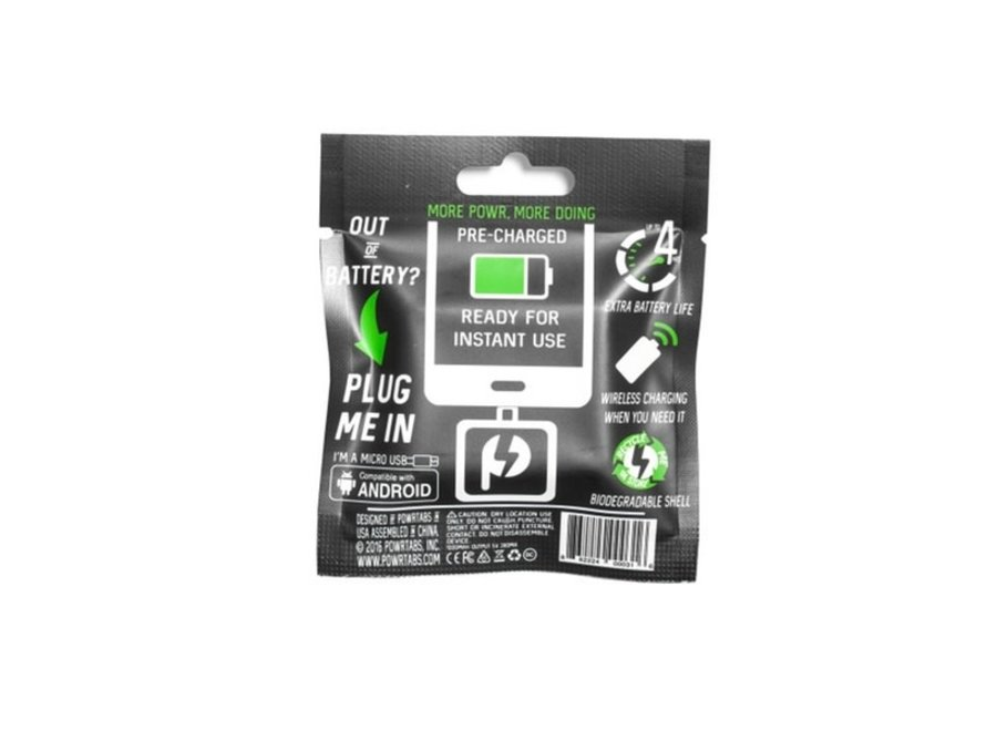 Clr PowrTab Single Use Android Micro USB Battery Charger