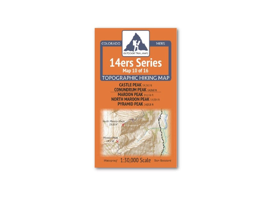 Outdoor Trail Maps 14ers Series Map 10/16