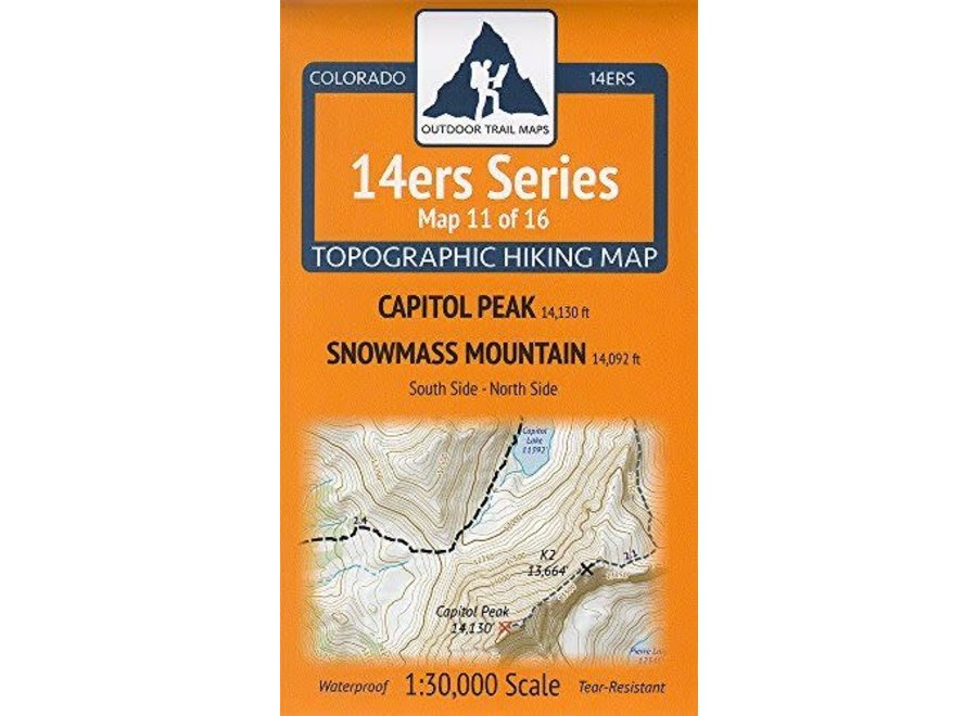 Outdoor Trail Maps 14ers Series Map 11/16