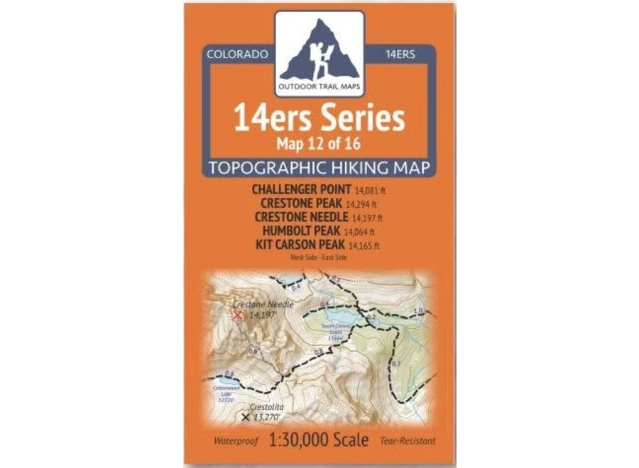 Outdoor Trail Maps 14ers Series Map 12/16