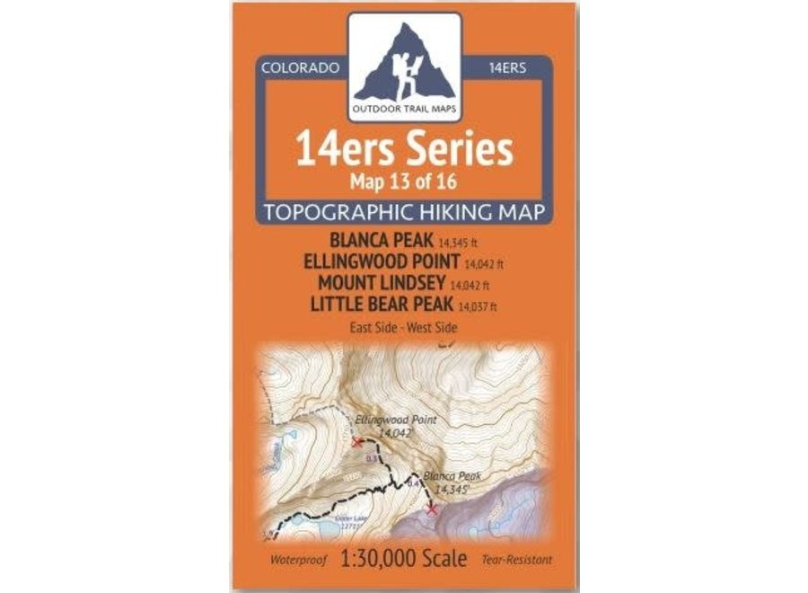 Outdoor Trail Maps 14ers Series Map 13/16