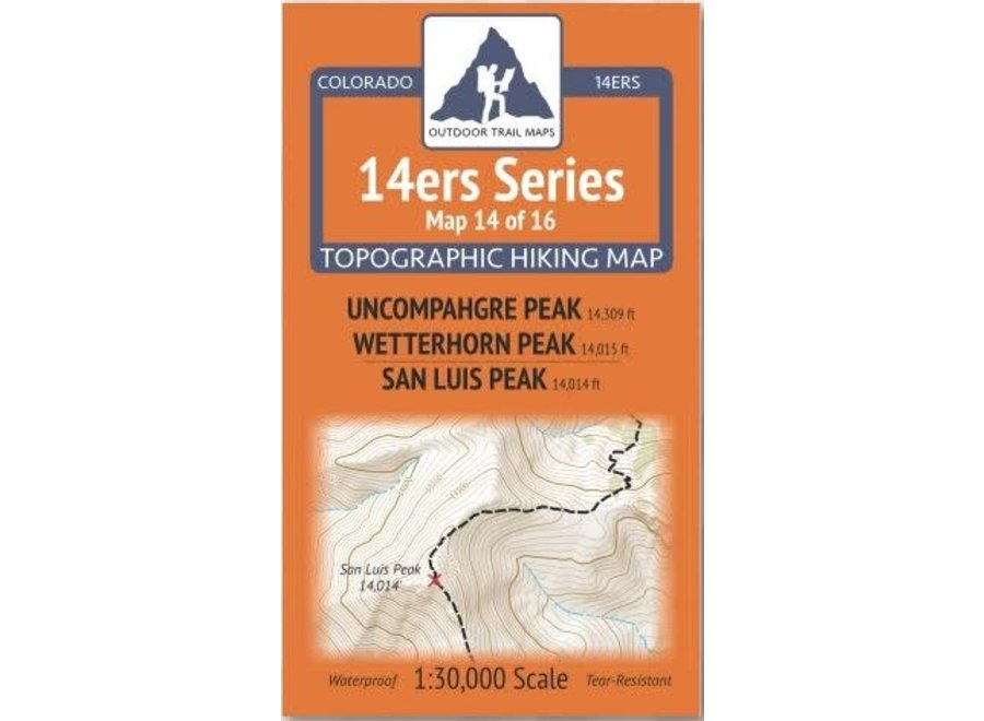 Outdoor Trail Maps 14ers Series Map 14/16
