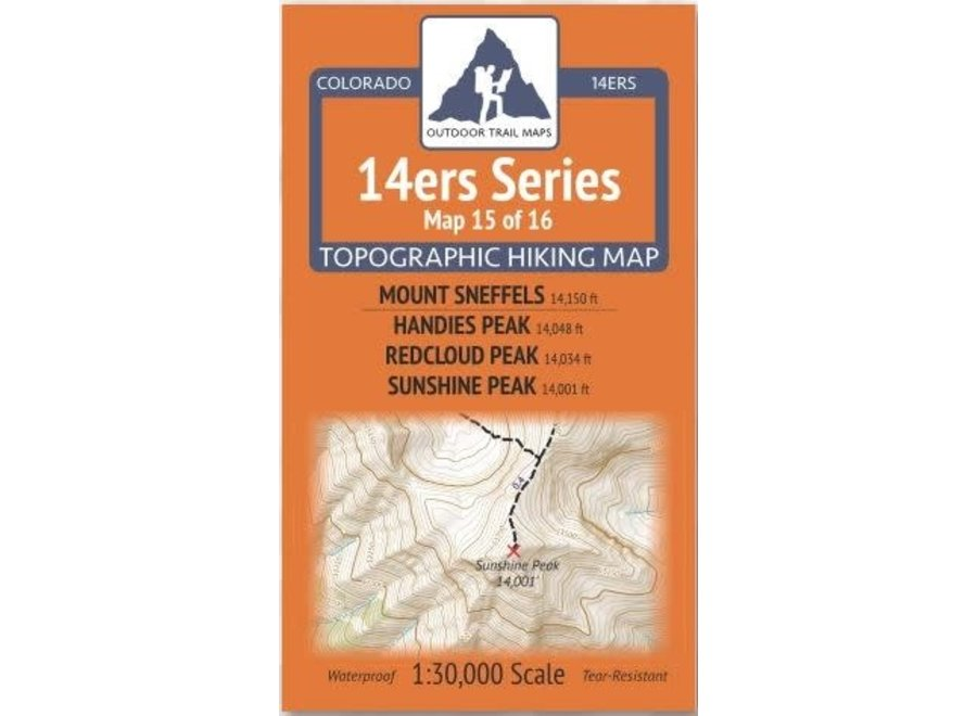 Outdoor Trail Maps 14ers Series Map 15/16