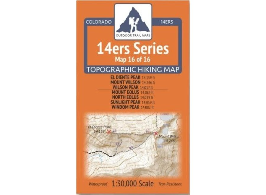 Outdoor Trail Maps 14ers Series Map 16/16