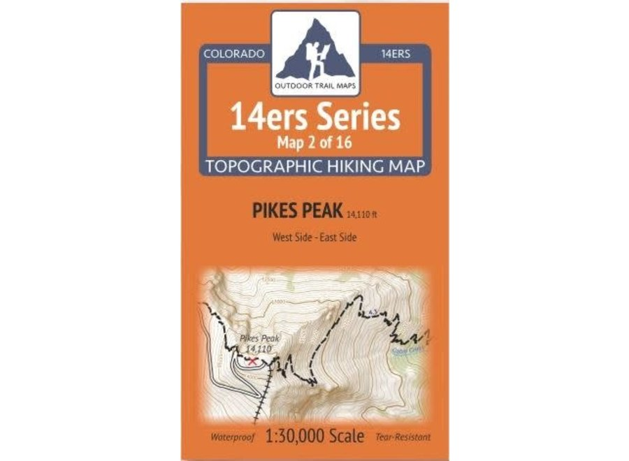 Outdoor Trail Maps 14ers Series Map 2/16