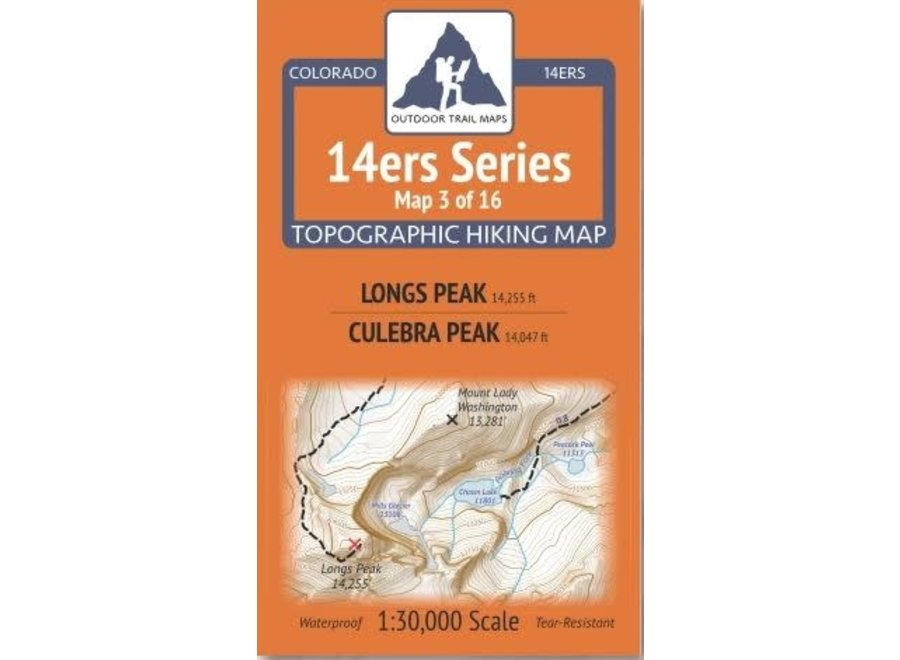 Outdoor Trail Maps 14ers Series Map 3/16