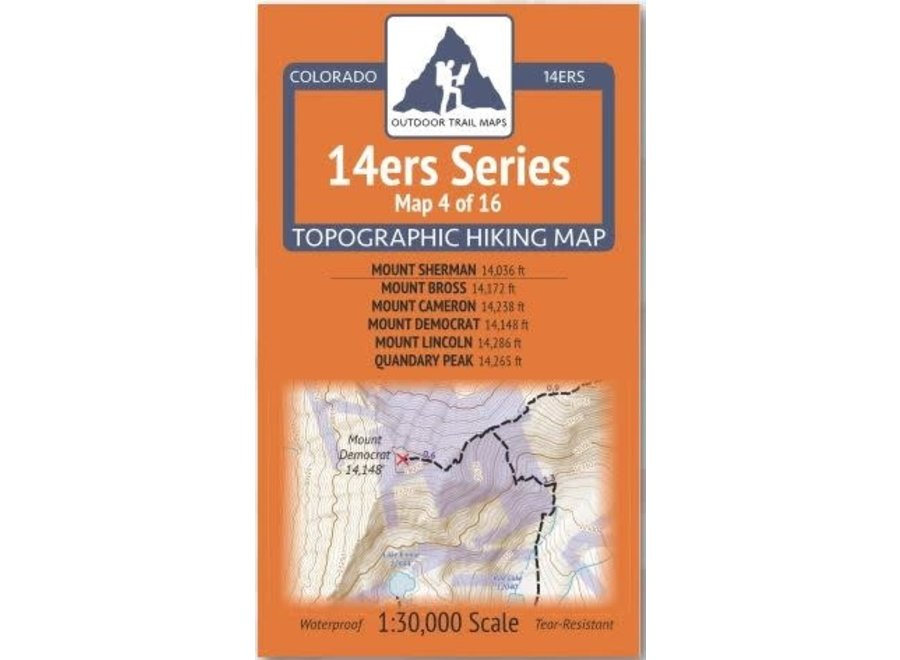 Outdoor Trail Maps 14ers Series Map 4/16