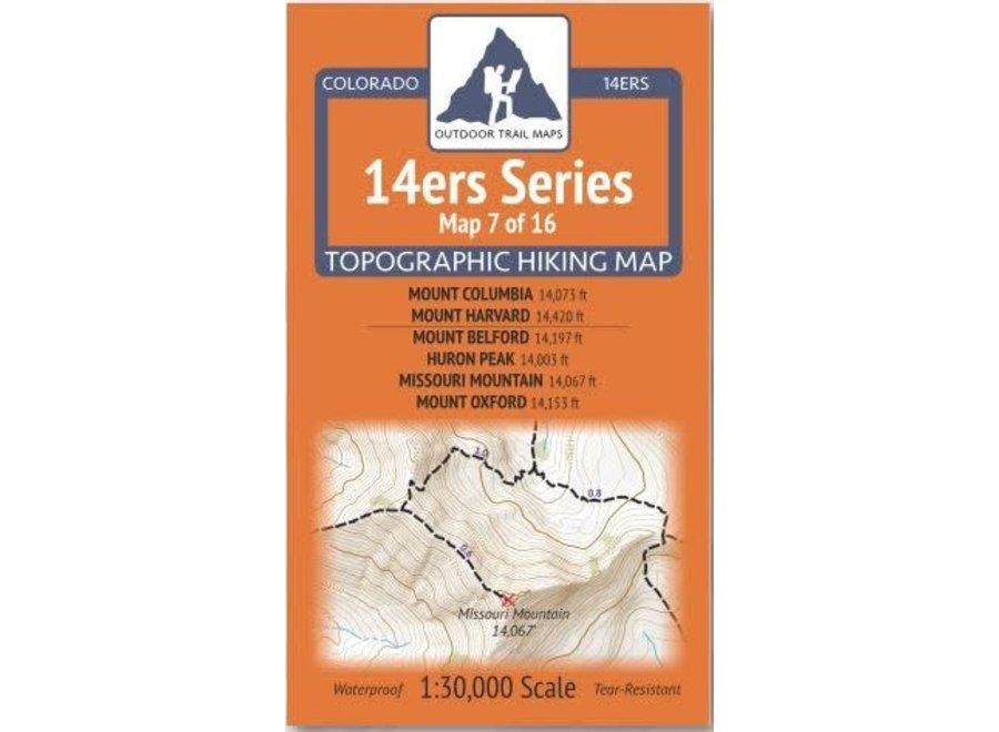 Outdoor Trail Maps 14ers Series Map 7/16