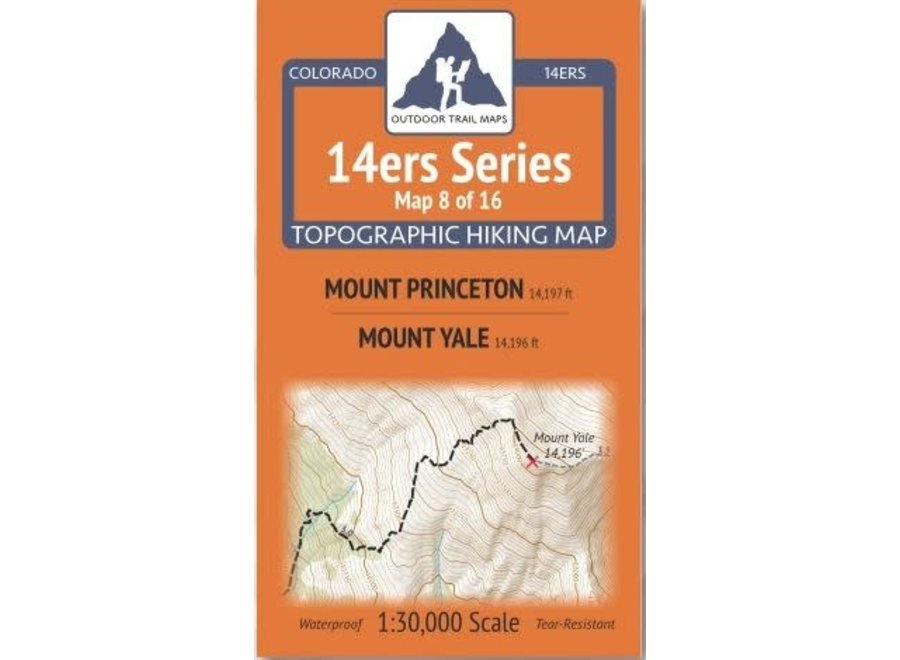 Outdoor Trail Maps 14ers Series Map 8/16
