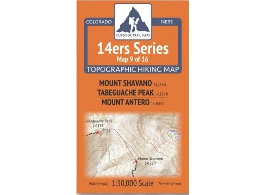 Outdoor Trail Maps 14ers Series Map 9/16